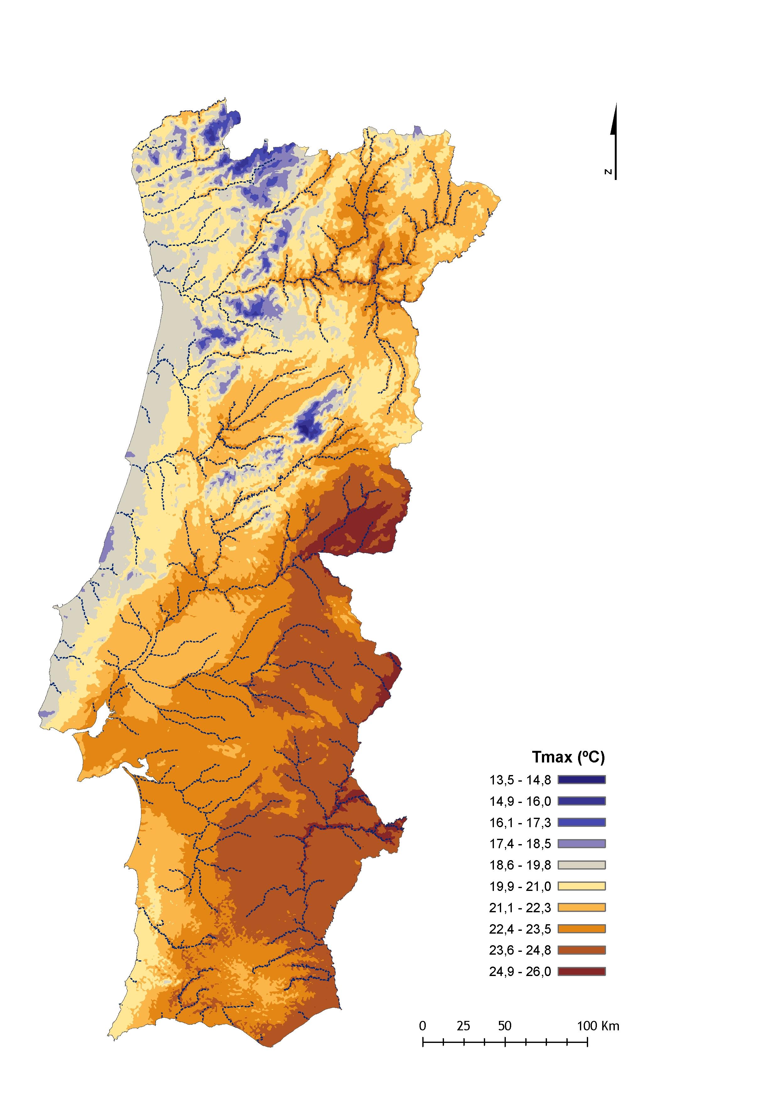 mapa de portugal 2005 Informação bioclimatológica mapa de portugal 2005